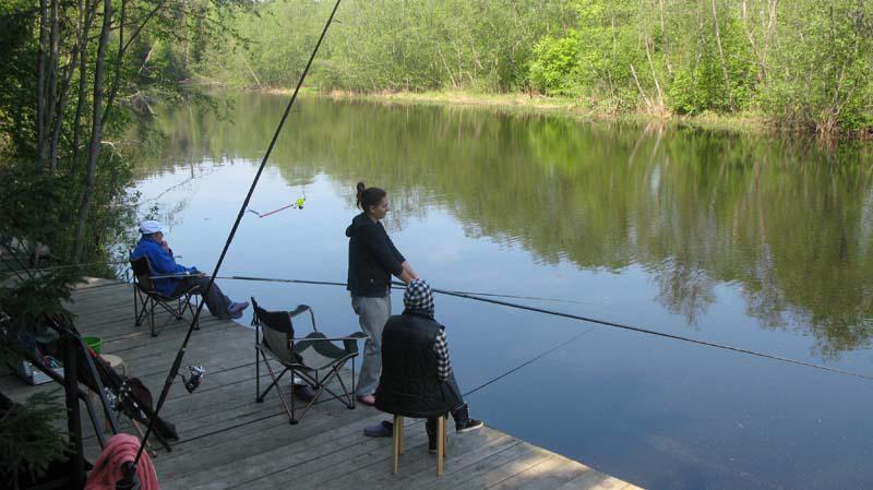 ловить рыбу в частном пруде