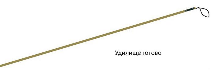 для чего на конце удочки веревочка